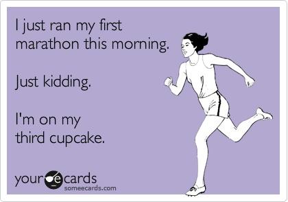 Marathon Cupcake