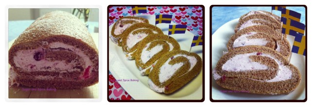 Gingerbread Swiss Roll with Lingonberry cream 4