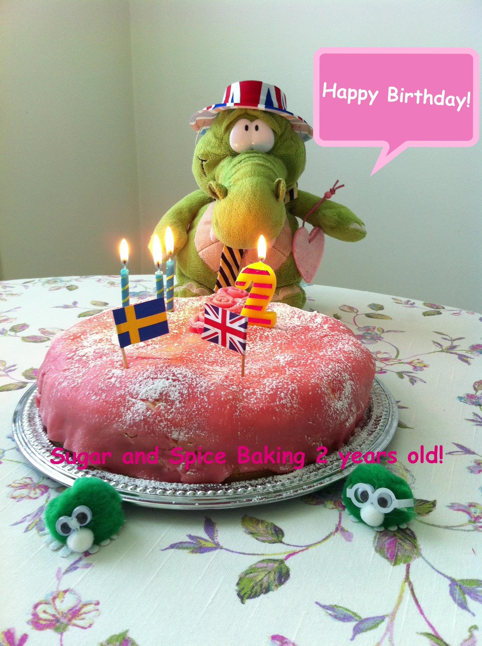 Happy Birthday Sugar And Spice Baking 2 Years Old Princess Cake